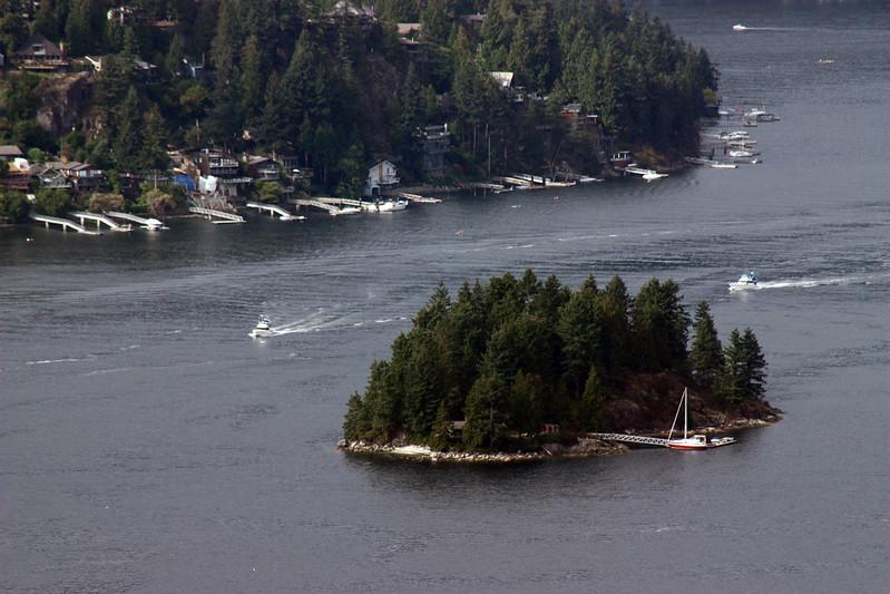 Island off of Deep Cove