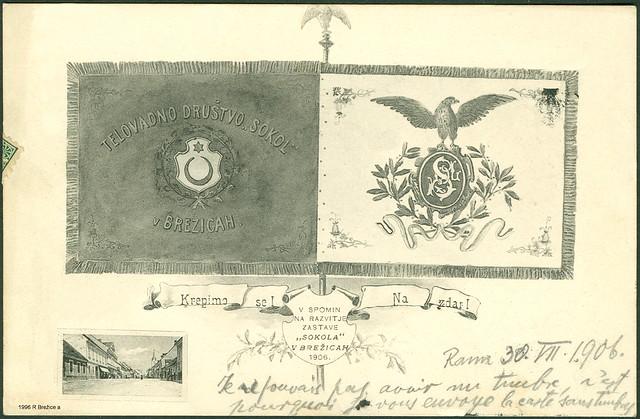 """Telovadno društvo """"Sokol"""" v Brežicah leta 1906."""