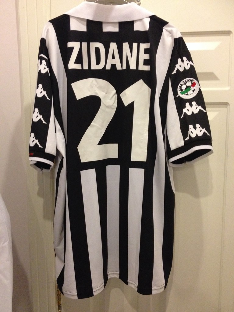 big sale 22e2a 392ec Juventus Zidane Match Issued Shirt 1999-2000 | Size Xl Bigge ...