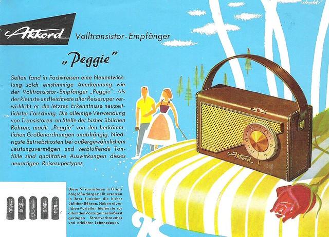 AKKORD Portable Radio Dealer Sheet Model 'Peggie' (W-Germany 1957)_1