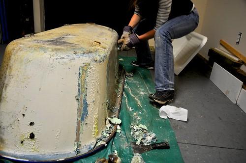 2012-01-09 Clawfoot bathtub strip and prep 12 | by ericdodds