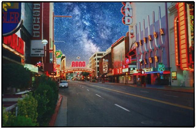 Reno Nevada ~ Main Gambling Strip ~  Film 35mm 1983 ~