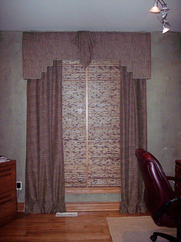 Upholstered Cornice and Drapes
