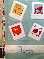March Polaroid Calendar