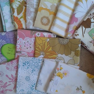 Vintage sheets from the swap have arrived.  @indiannadreams thanks for organising @memmens love my selection
