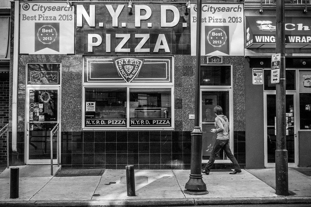 Philadelphia Street Photography - NYPD Pizza