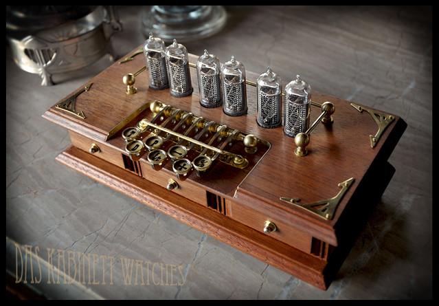~Timewriter~ Steampunk Nixie tube clock