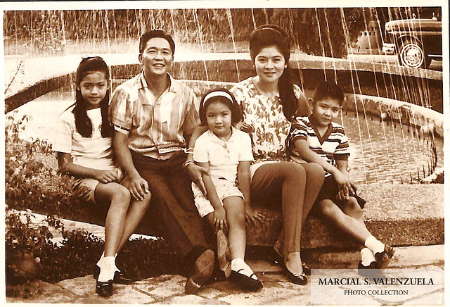 President Ferdinand Marcos with his family.