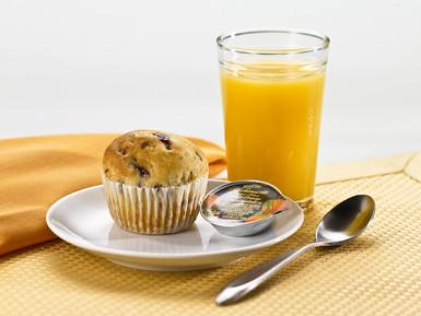 Cranberry Oat Scone, Orange Marmalade, Orange Juice   by diettogo1