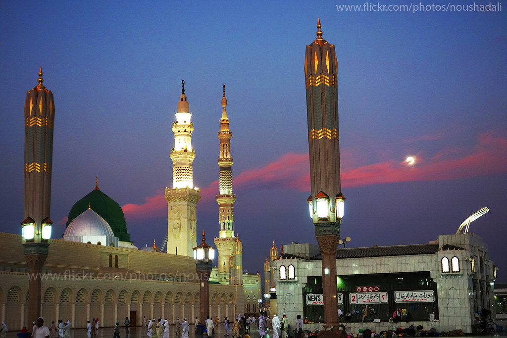 Maghrib prayer time in Masjid Nabawi