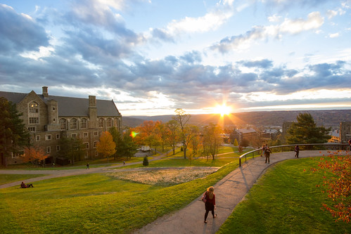 new york sunset west tower clock canon campus photography university sigma upstate cornell ithaca straight cluds libe 10mm williard 550d t2i slpoe