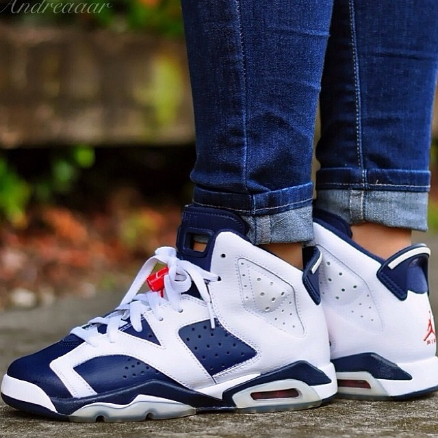 low priced eaa68 d8cc0 andreaaar laced up the Olympic Air Jordan 6. SneakerFiles ...