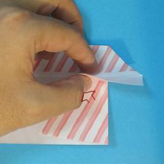วิธีพับกล่องกระดาษรูปหัวใจส่วนฐานกล่อง 017