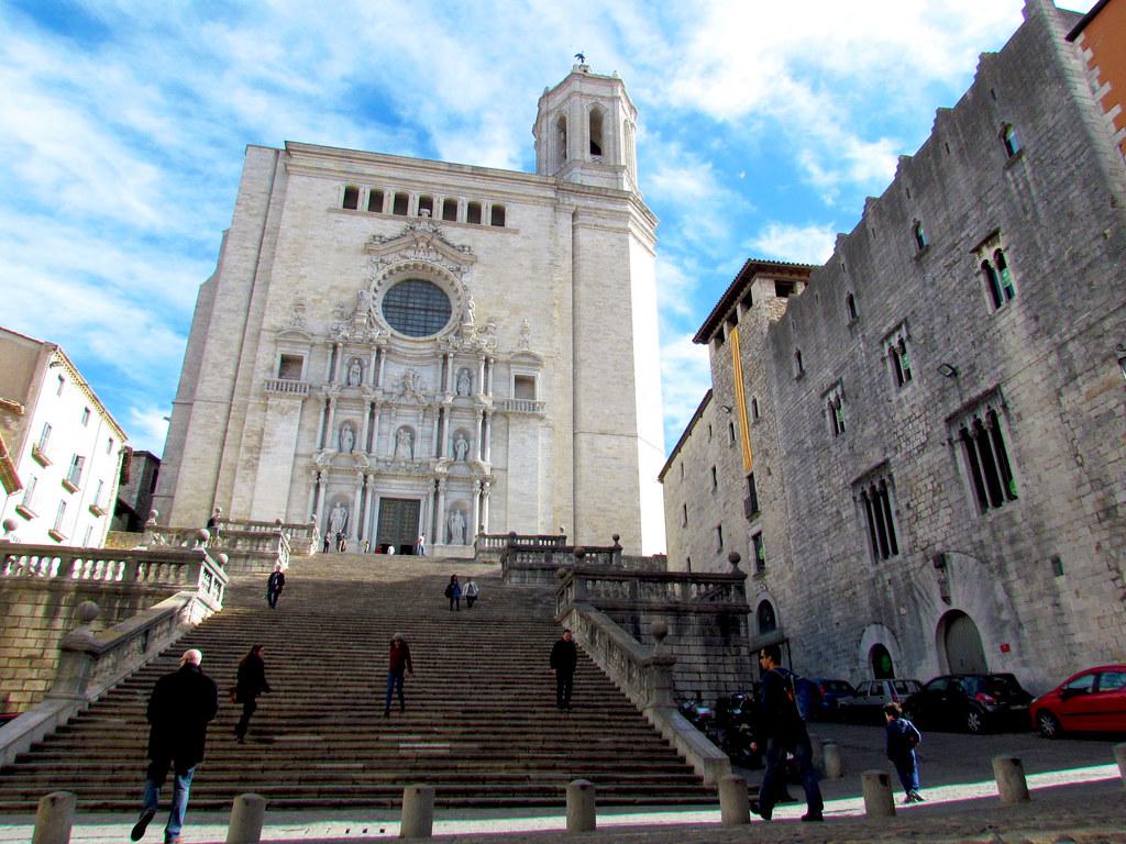 Catedral De Santa Maria De Girona Ubicada En El Punto Mas Flickr