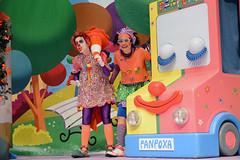 En la imagen se puede ver un momento de la representación de Pirritx, Porrotx eta Marimots.  Fotografía cedida por Óscar Blanco Gutiérrez.
