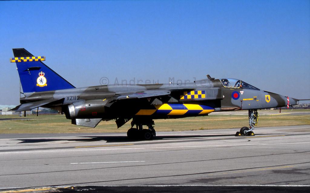 RAF Jaguar GR.1A at Brize in 1991.