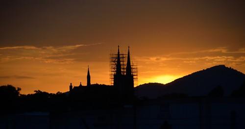 sky clouds dawn virginia nikon scaffolding va standrews roanokeva standrewscatholicchurch tamron18270 nikontamron d5100 nikond5100 tamron18270f3563diiivcpzdlen