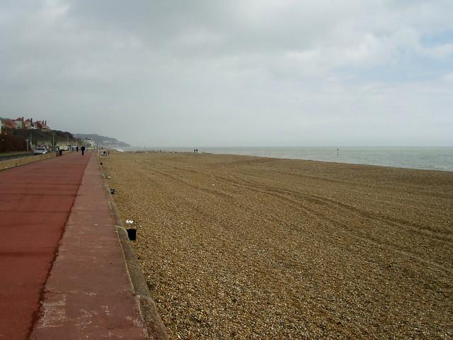 The beach at Hythe
