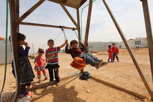 Syrian Refugees at Zaatari Camp in Jordan