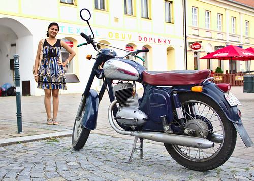 Bike before girl
