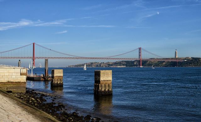Ponte 25 de Abril Bridge of Lisbon
