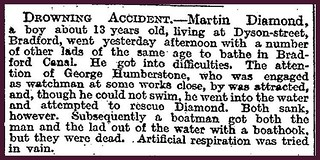 20th September 1909 - Young boy drowned in Bradford Canal | by Bradford Timeline