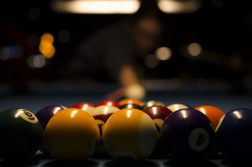 365project 347365 december132013 2013 2013inphotos ontario canada nikon 40mm ottawa bokeh pool game billiards balls poolballs numbers rackemup betweengames nardbokeh posed tailgaters lowlight bar pub nightout break whiteball nardrait fridaythe13th portrait man lininguptheshot flashfix flashfixphotography