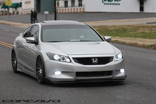 Honda Accord Coupe | CW-12 | Matte Black Machined Face | | by Concavo Wheels