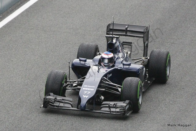 Valtteri Bottas in his Williams at Formula One Winter Testing 2014