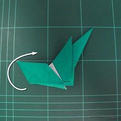วิธีพับกระดาษเป็นรูปหมู (Origami Pig) 008