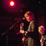 Fri, 28/03/2014 - 8:34pm - Suzanne Vega (with guitarist Gerry Leonard) for an audience of WFUV Marquee Members at City Winery in NYC, 3-28-14. Hosted by Rita Houston. Photo by Laura Fedele