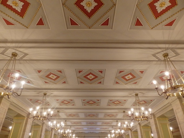 Ceiling in the foyer, the Konzerthaus