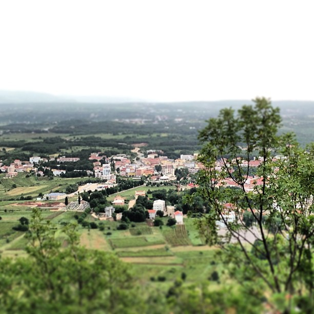Looking out over Međugorje from 1/4 of the way up Cross Mountain