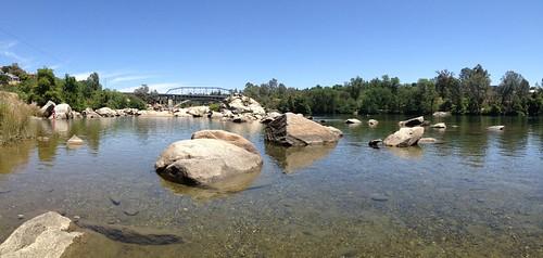 Perfect Swimming Hole #folsom #lakenatoma #americanriver #panorama #iphone4s #folsombridge