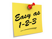 Easy As 123 White Background | by One Way Stock