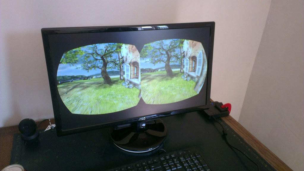 Oculus Rift VR screen view | tribehut | Flickr