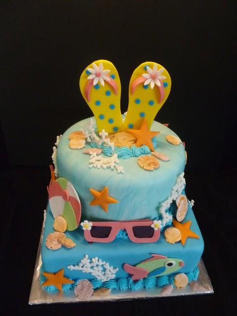 Beach Cake by Yvonne C., Twin Cities, MN, www.birthdaycakes4free.com