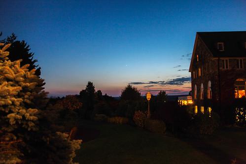 sunset mars pennsylvania planets poconos skytop skytoplodge