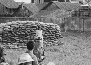 june 1966, Saigon - An officer from the South Vietnamese army is executed after having embezzled funds on the black market.