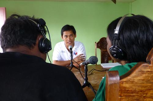 Guiuan mayor on Radio Bakdaw | by Internews Network