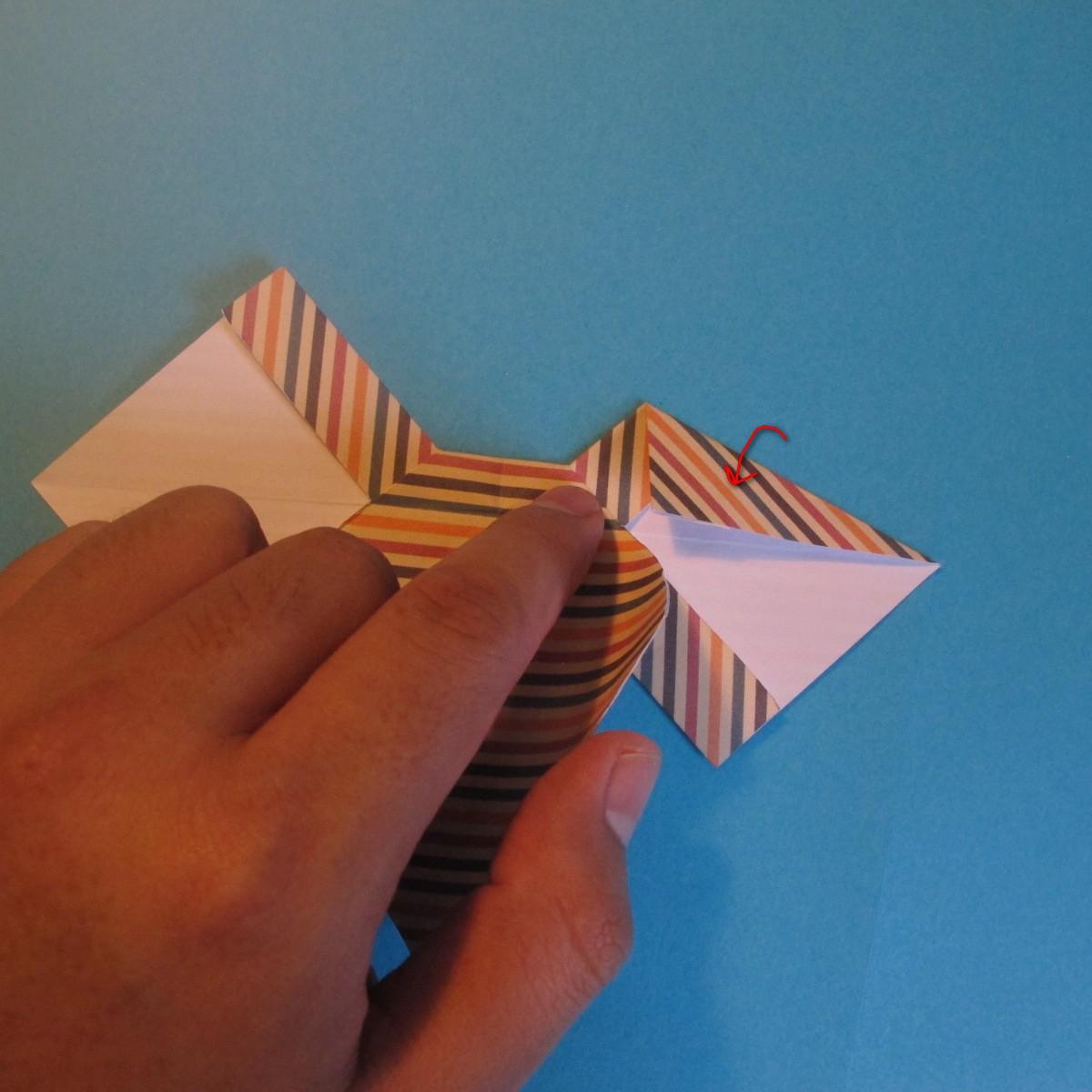 วิธีการพับกระดาษเป็นโบว์หูกระต่าย 019