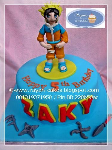 Groovy Naruto Fondant Birthday Cakes For Zaki Rayan Cakes Kue Flickr Personalised Birthday Cards Akebfashionlily Jamesorg