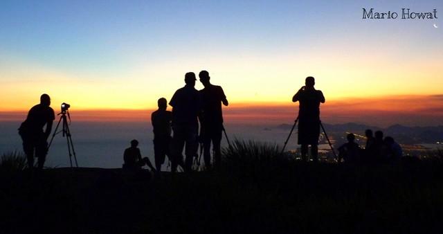 Com os Amigos na Pedra Bonita  -  Rio de Janeiro