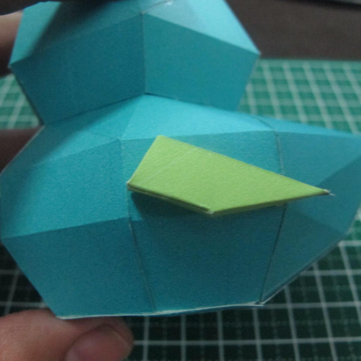วิธีทำของเล่นโมเดลกระดาษรูปนก (Bird Paper craft ) 024