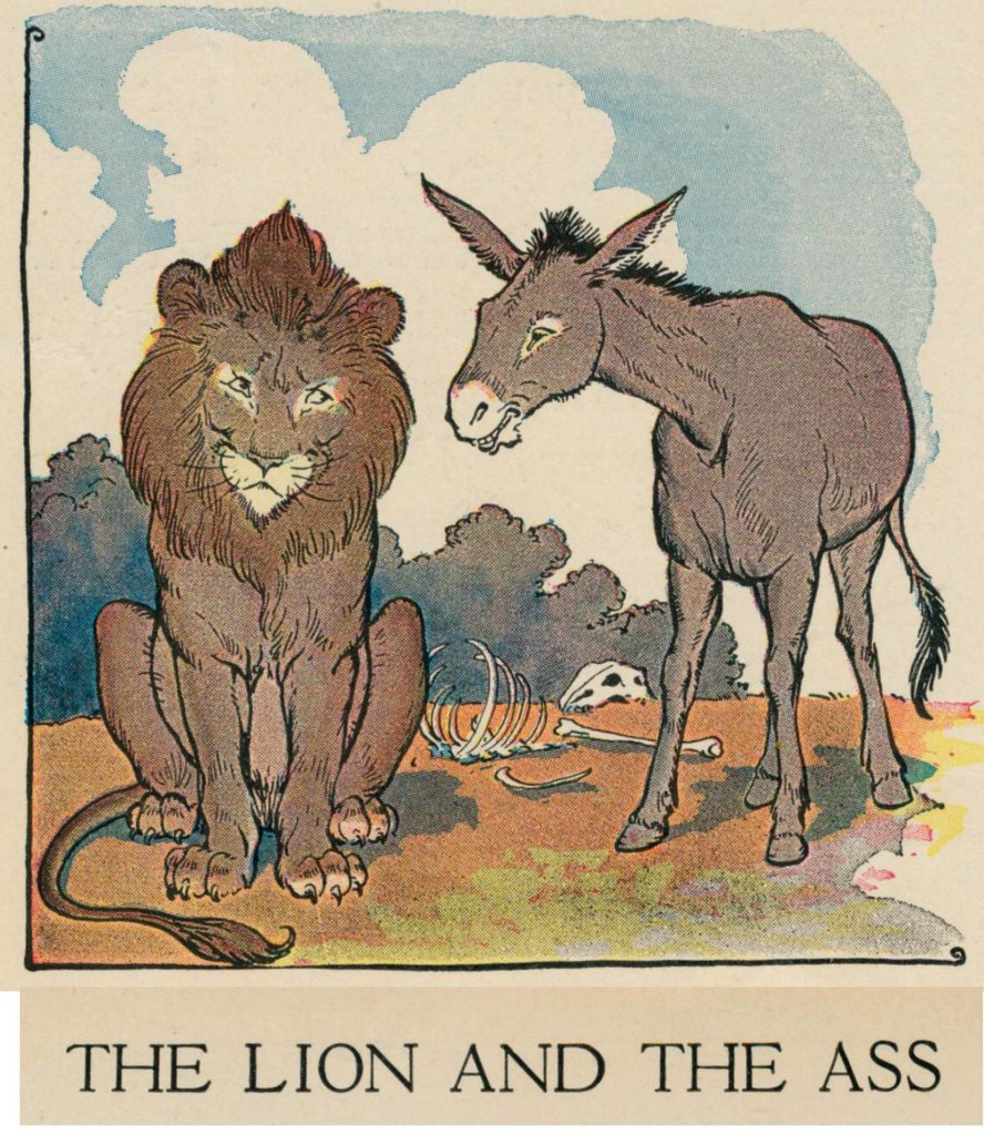 aesops fables Milo winter 1919 ill the lion and the ass