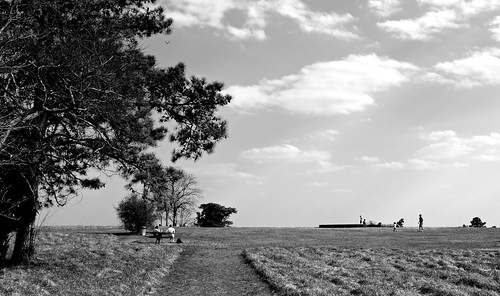 park sky blackandwhite bw tree pine canon bench landscape couple play meadow sunny cloulds gwinnett