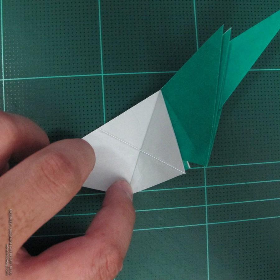 วิธีพับกระดาษเป็นรูปหมู (Origami Pig) 007