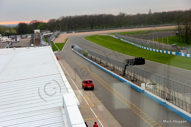 The view from the tower at Donington Park