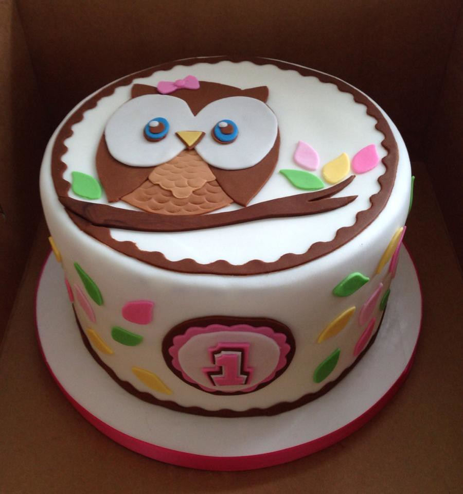 Remarkable Owl 1St Birthday Cake Amanda Bell Flickr Funny Birthday Cards Online Fluifree Goldxyz