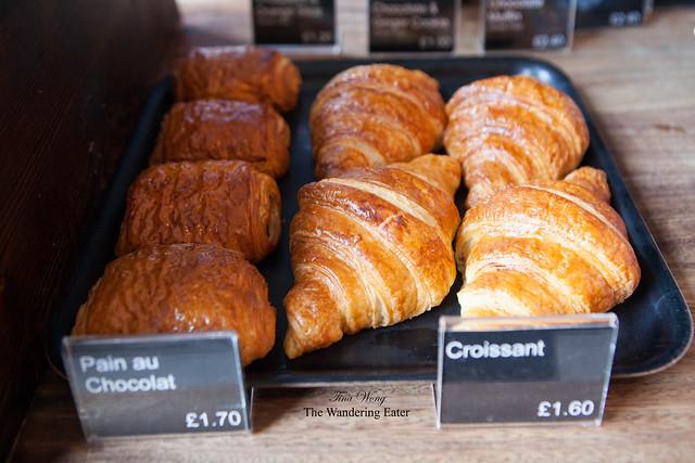 Pain au Chocolat and Croissants